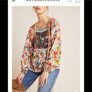 Anthroplogie Niki Peasant blouse by Maeve